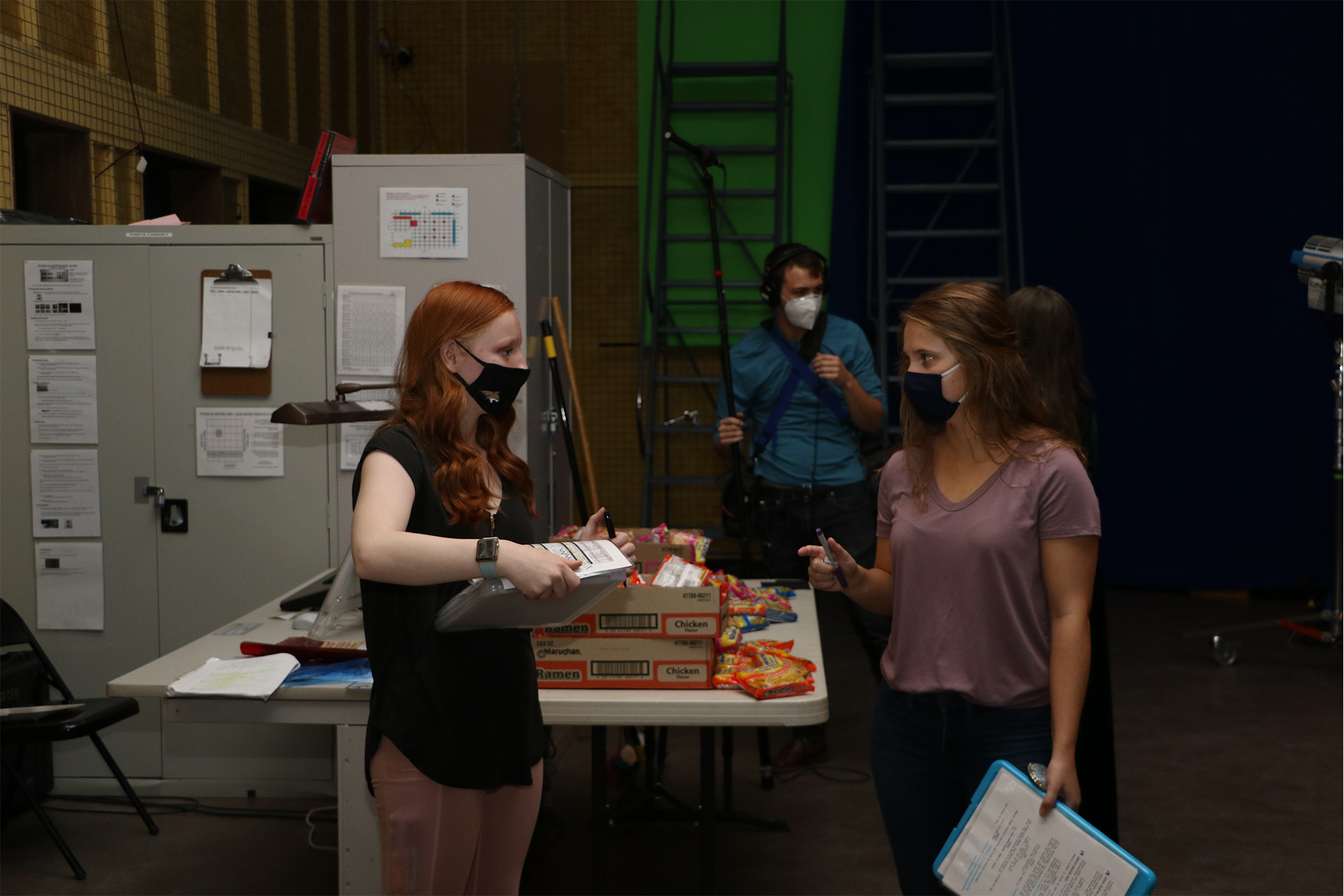 Problem solving on the set of A Helping Hand.